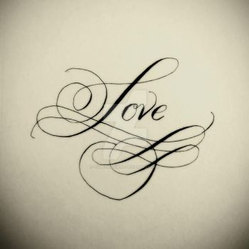 Love - Christmas Calligraphy by GameChangers
