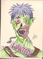 zombyyyyyy thing in school pens by Gresta-GraceM