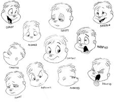 Alvin Expression Sheet by BoredStupid100