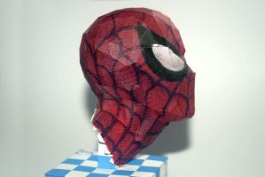 Spiderman papercraft WIP by airasumi