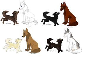 Realistic wolf pointables 2*OPEN* by xXWF-adoptablesXx