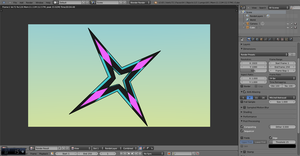 Ninja Star ( Cotton Candy ) by Plateal