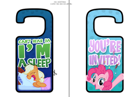My Little Pony Printable Door Hangers by daniel10alien