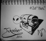 Inktober Day 26 (Box) by FeralDoodle