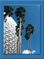 Epcot Spaceship EarthTallPalms by WDWParksGal