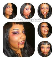 Vampire makeup update by MzChrisCreatez