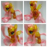 Candy Filled Resin Fluttershy by TiellaNicole