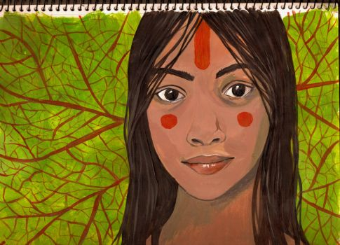 rainforest girl by octomantic