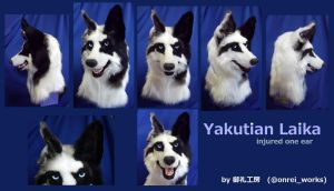 Yakutian Laika head by kotoori-long