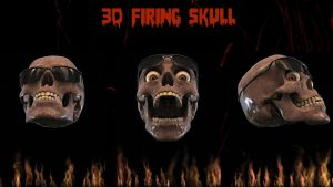 3D Firing Skull (pre-final) ANIMATED for xwidget by jimking