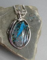 Blue Ghost Pendant by PurlyZig