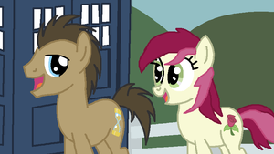 The doctor and Roseluck by ptitemouette