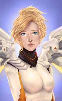 [Overwatch] Mercy by Maneodra