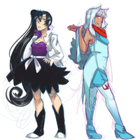 Weiss Schnee and Blake Belladonna: Color Swap by Sogequeen2550