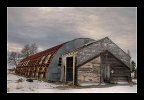 Roofless Barn by whitelouis
