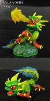 Skylanders Articulated Camo Dragon by Jin-Saotome