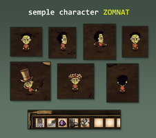 ZOMNAT Don't Starve character by Foxygene