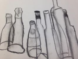 Bottles by Pinkwolfly