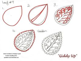 How to draw Paisley Leaf 09 Giddy Up by Quaddles-Roost
