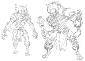 DnD4e: Werewolves- Line Art by ChristopherStevens