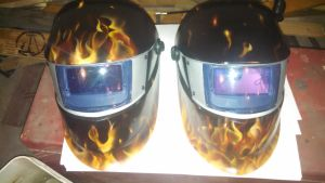 Welding helmet s by BurntOutCreations