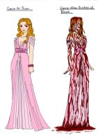 Stephen King~Carrie Before and Aft Bucket of Blood by Comicbookguy54321