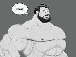 Bluto pecs by Blathering