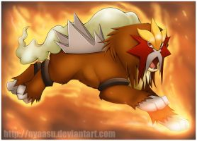 No. 244 - Entei by Nyaasu