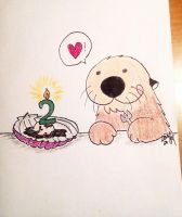 Happy 2nd otterversary to my husband by Lutrasaura