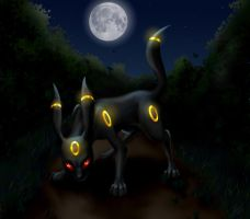 Moonlight Umbreon by D34tHn0Te