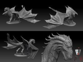 LE Red dragon sculpt by DeckardX08