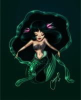 green mermaid1 by melivillosa