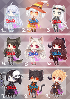 Halloween Adopts: SOLD by RaineSeryn