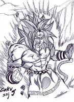 drawing of gokussj5 by ChibiDamZ