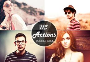 115 Photoshop Actions Bundle Deal by sfahmad2kf