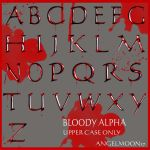 BLOODY ALPHA UPPER CASE by AngelMoon17