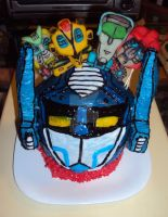 Transformers Cake by ToughSpirit