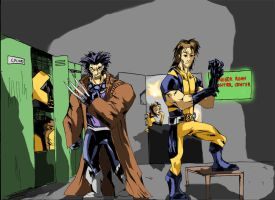 COSTUME SWAP:Wolverine and Gambit by Sabrerine911