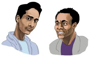 Abed and Troy From Community by tvfunnyman