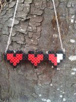 Health bar 8 bit necklace by TheGeekEmporium