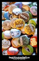 nerd buttons by sebe