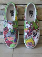 Calvin and Hobbes Shoes 1 by KibaGirl995