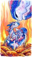 30 Days of Dragons - Day 15 - Hatchling by SpaceTurtleStudios