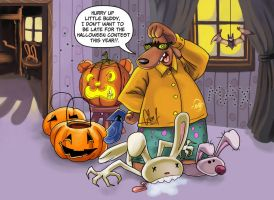 Sam and Max Halloween contest2 by Axigan