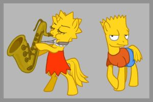Bart and Lisa Simpony by Birvan