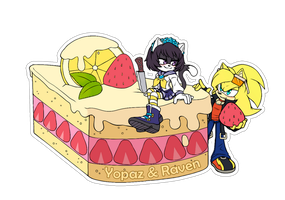 Comm.Food sticker. Yopaz and Raven by 13VOin