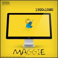 Maggie Simpson - Wallpaper by SterekCreations