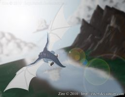 Through the Wind and clouds by Zire9