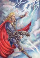 God of Thunder by Mieronna