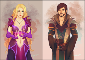 Evalyna and Jacobias by myks0
